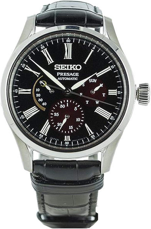 Seiko presage Reloj para Hombre Analógico de Automático con Brazalete de Piel de cocodrilo SPB085J1