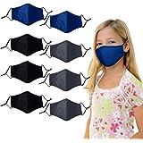 Kids Cloth Face Mask Reusable - Washable Face Masks Adjustable Cute Toddler Children Face Masks Cover for Girls Boys - Pack o