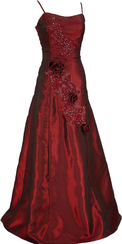 Cherlone Ballkleid, lang, formell, Abendkleid, Brautjungferkleid,  Burgunderrot