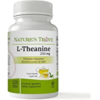 L-Theanine 200 mg por Nature's Trove – 120 cápsulas vegetarianas