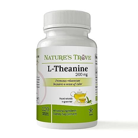 Natures Trove L-teanina 200 mg 120 cápsulas vegetales