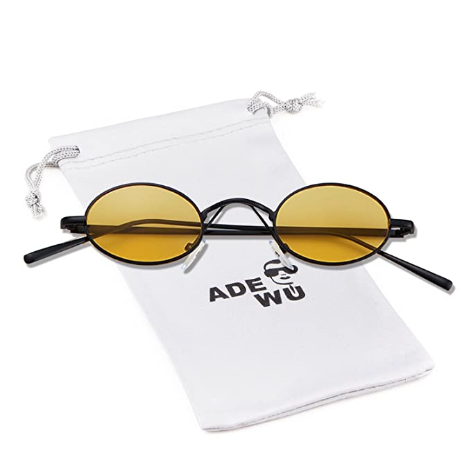 ADEWU Gafas de sol redondas pequeñas y redondas con ...
