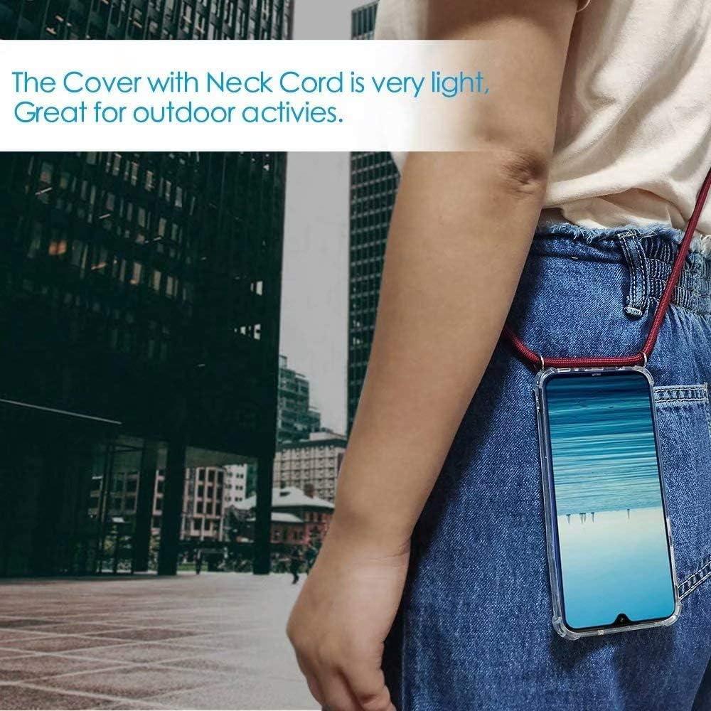 Funda con Cuerda para Motorola Moto G6,Moda y Practico Carcasa de TPU Mate Case Cover con Colgante//Cadena.