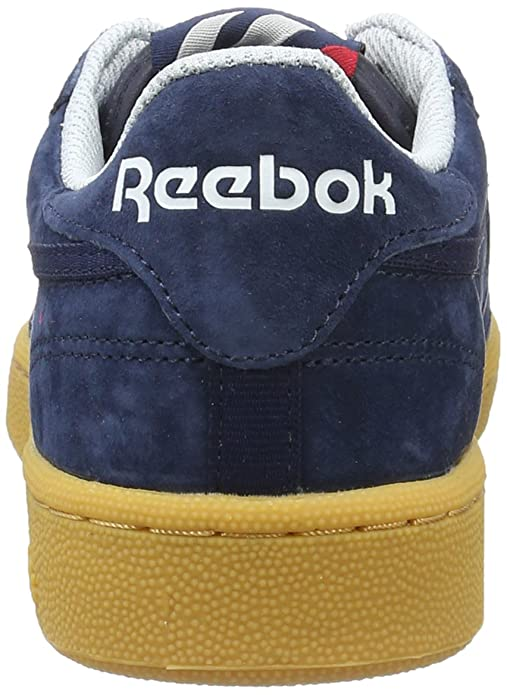 Reebok Club C 85 Indoor, Zapatillas para Hombre, Azul (Collegiate Navy/Cloud Grey/Scarlet/White), 47 EU: Amazon.es: Zapatos y complementos