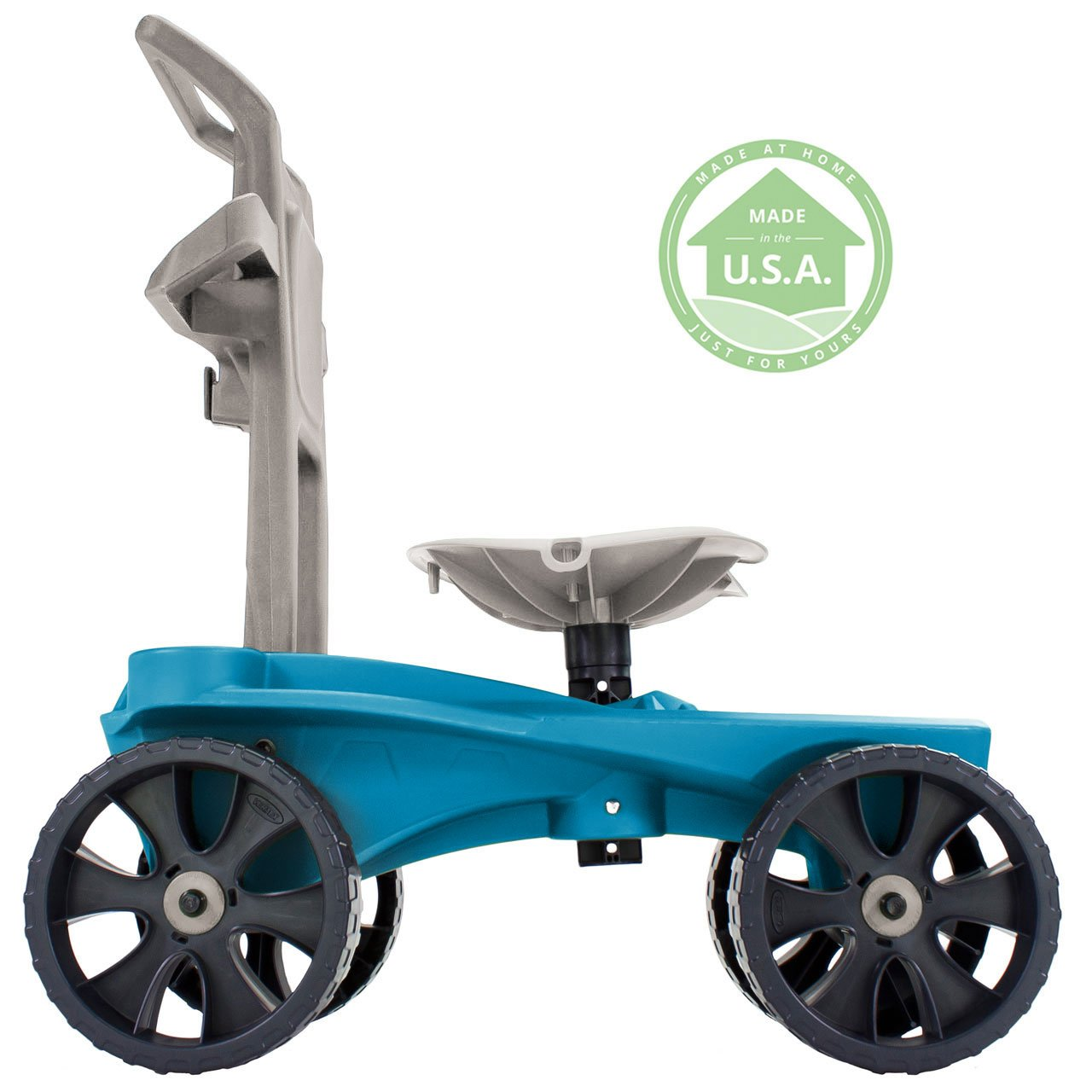 Easy Up Deluxe XTV Rolling Garden Seat and Scoot - Adjustable Swivel Seat, Heavy Duty Wheels, and Ergonomic Design To Assist Standing, Sitting, and Bending Over Made in the USA (Deluxe XTV Teal) by Vertex (Image #3)