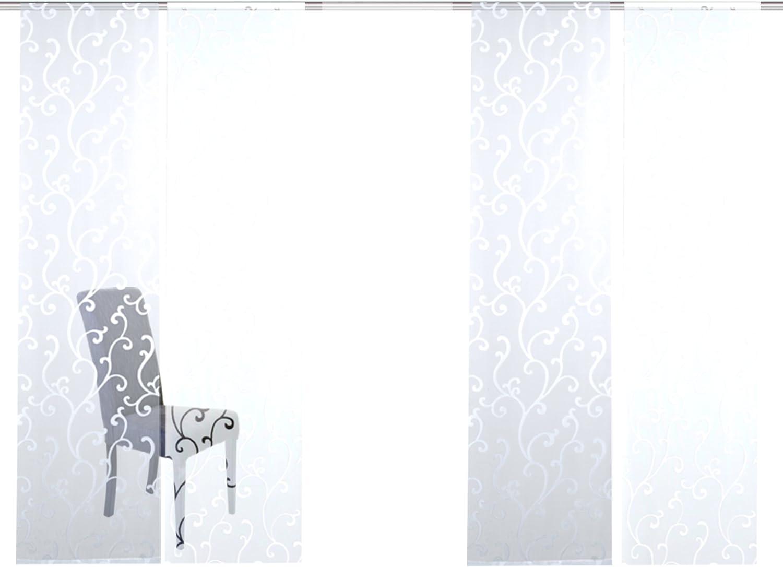 Home fashion 95025 | 5 Juego de corredera arol | con diseño de Scherli | 5 x 245 x 60 cm (H x B), color: blanco: Amazon.es: Hogar