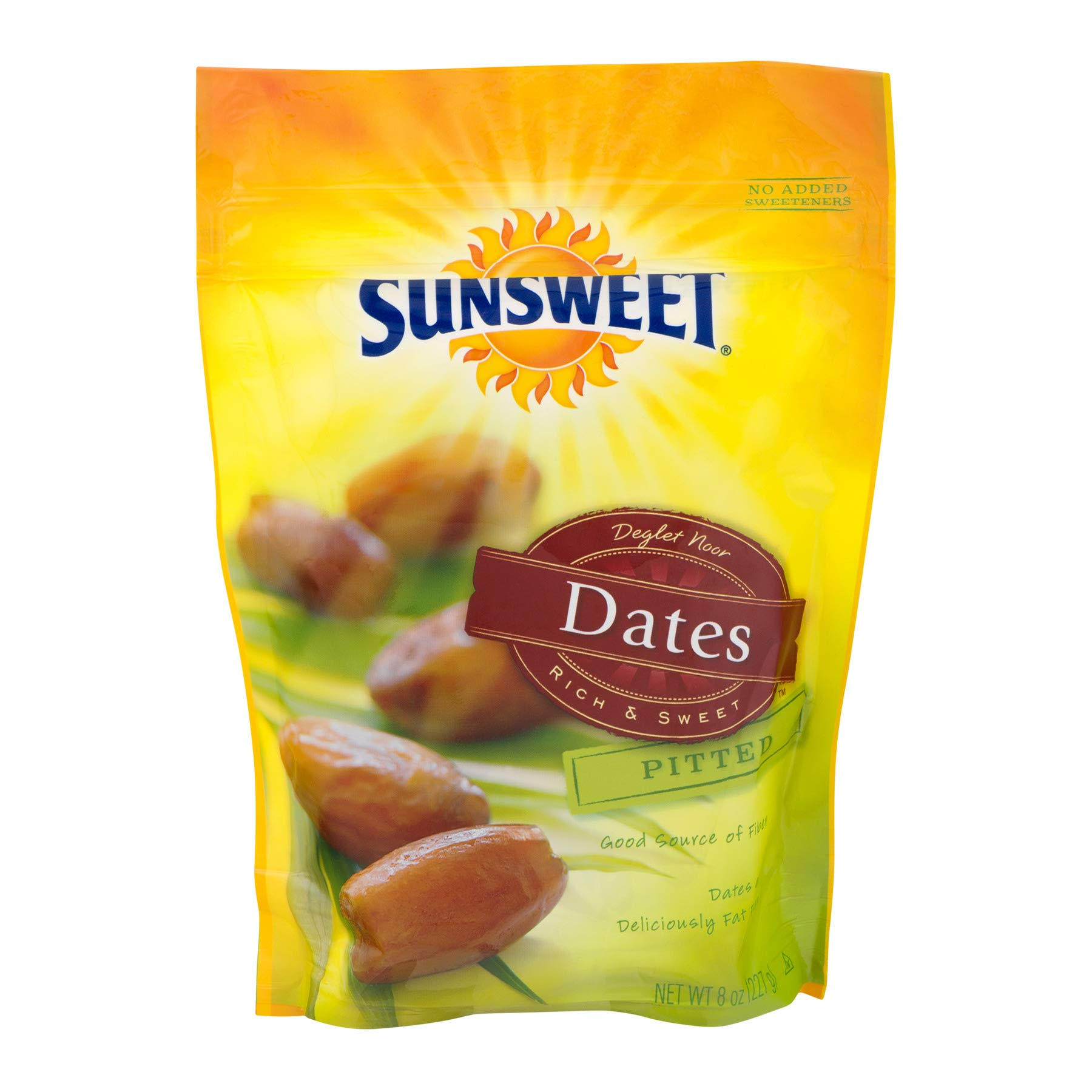 Sunsweet California Grown Dates Pitted , 8 ounce (Pack of 6)
