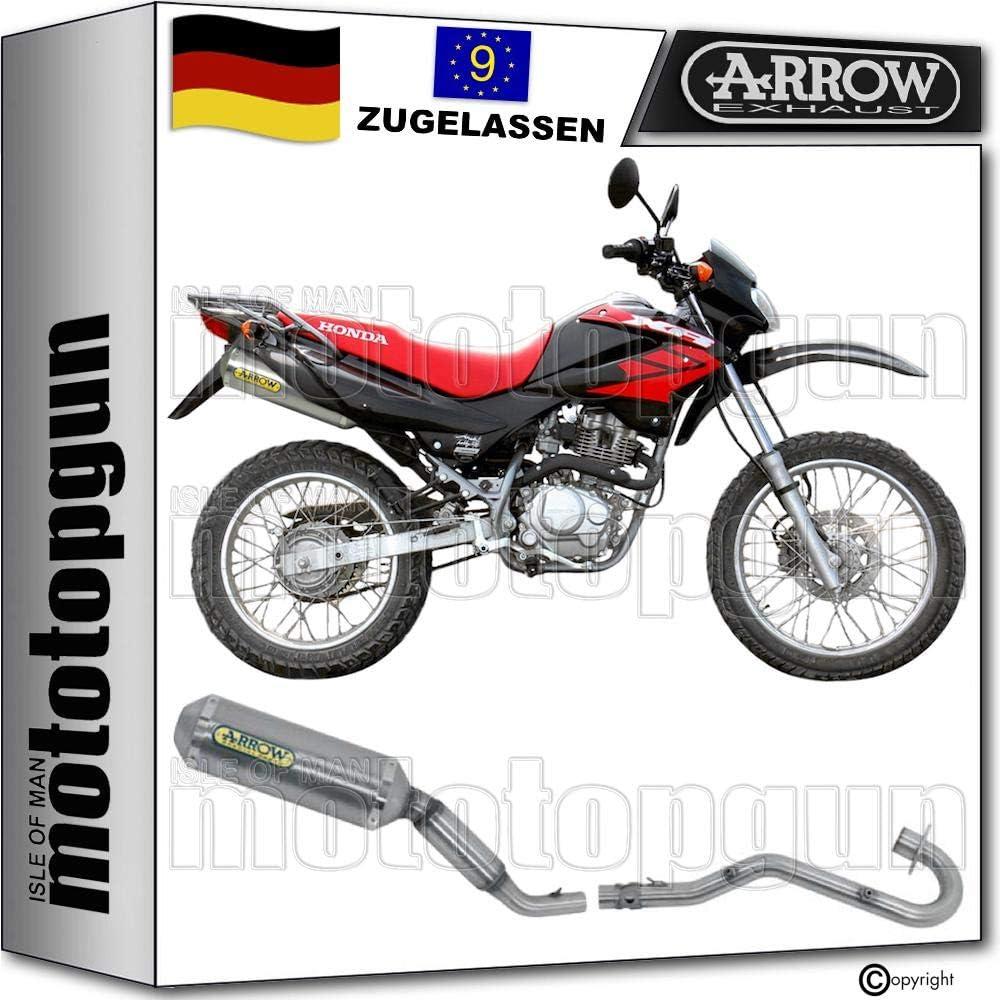 Arrow Komplettanlage Kein Kat Homologiert Aluminium Thunder Kompatibel Mit Honda Xr 125 L 2004 52501ao 52001mi Auto