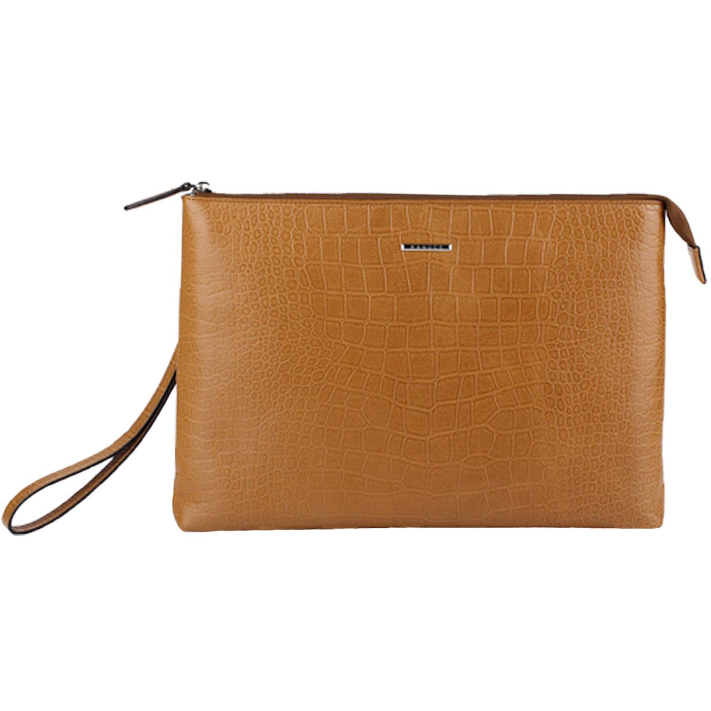 Banuce Men's Genuine Leather 2-way Usage Wristlet Bag Clutch
