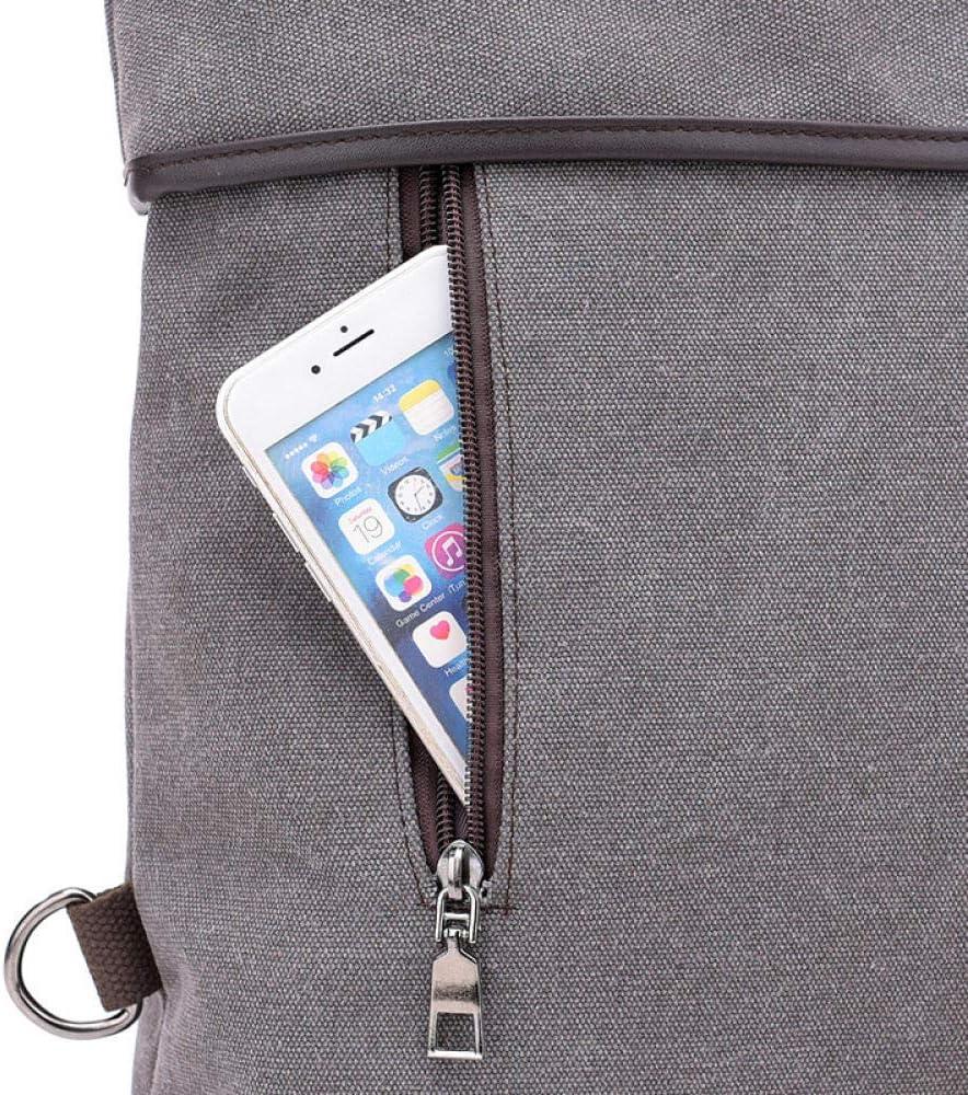 Weier. Ben Canvas Handtaschen Neue Umhängetasche weiblich multifunktionale lässig Damen große Kapazität weiblich Himmelblau Dark Khaki
