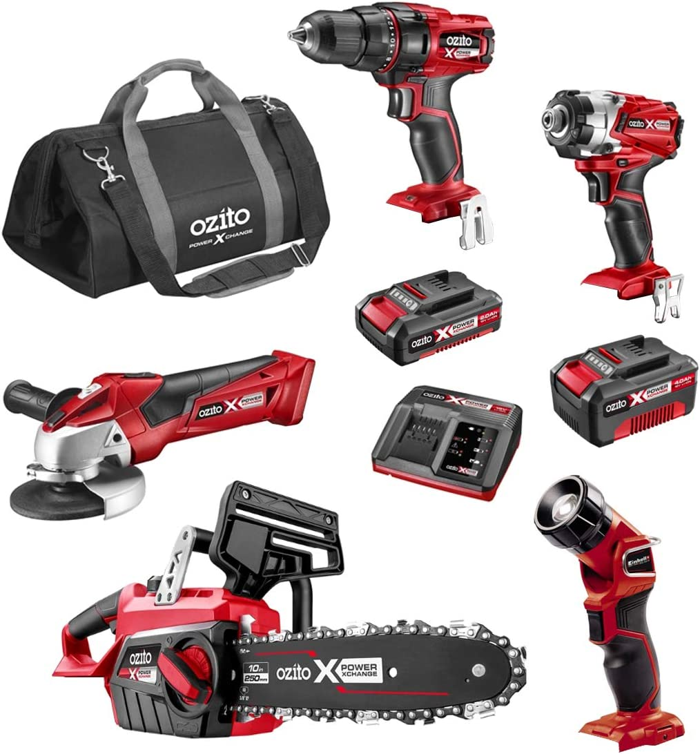 OZITO Power X Change 5Pce Combo Tool Kit and Accessories