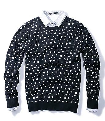 Mens Cotton Polka Dot Pullover Sweater Cardigan X Large Amazon