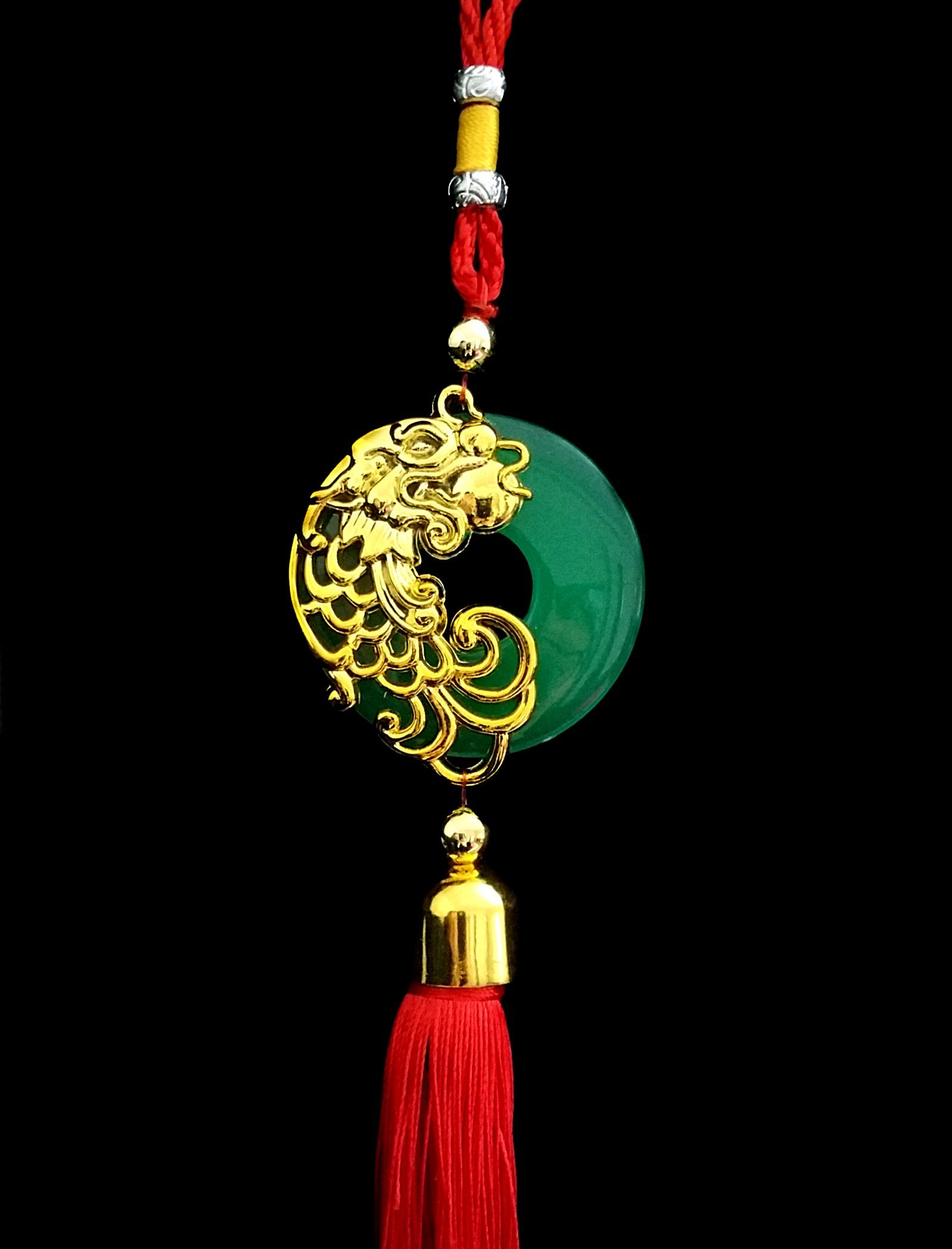 Handmade Feng Shui Chinese Dragon Hanging or Charm for Prosperity (With a Betterdecor Pounch)
