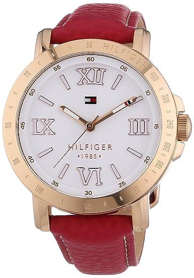 e28c30449 Tommy Hilfiger Liv - Reloj de Cuarzo para Mujer, Correa de Cuero Color  Rosa: Amazon.es: Relojes