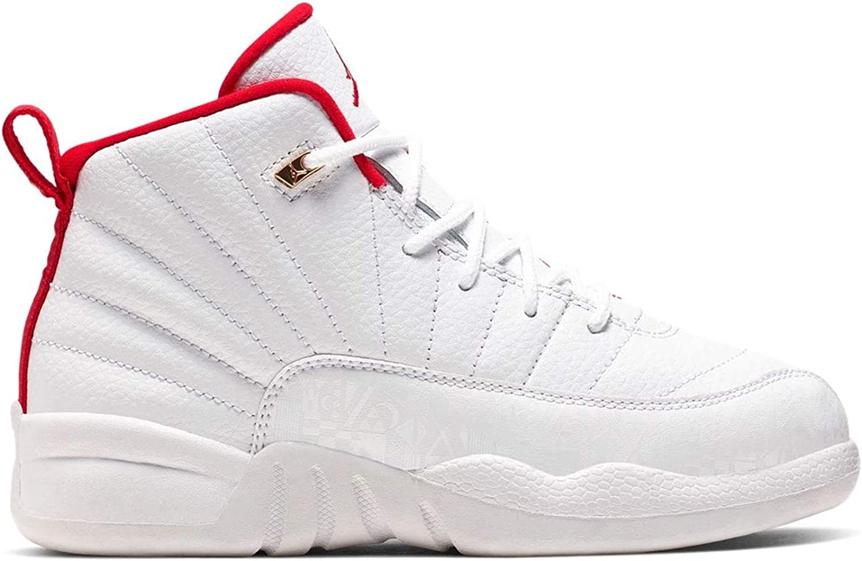 Jordans 12 Amazon.com | Jordan Nike Air 12 Retro PS FIBA White/Red/Gold ...