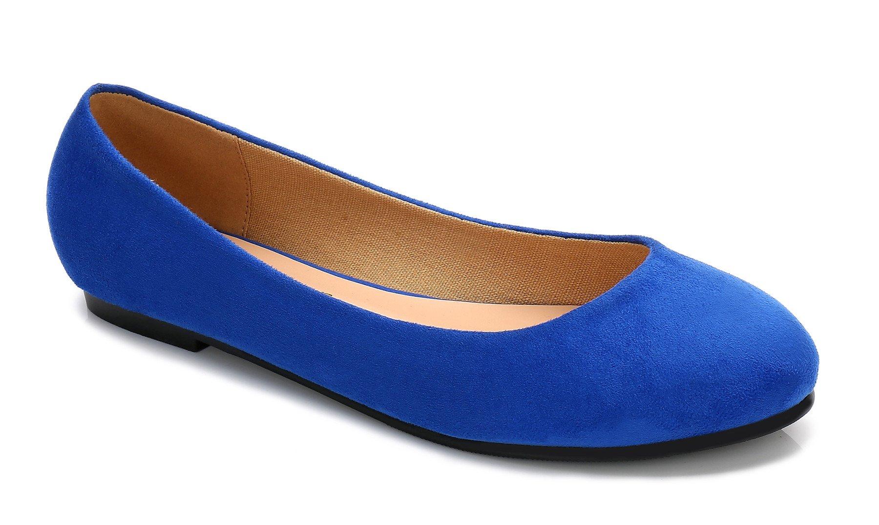 ComeShun Womens Shoes Cute Slip On Casual Ballet Flats