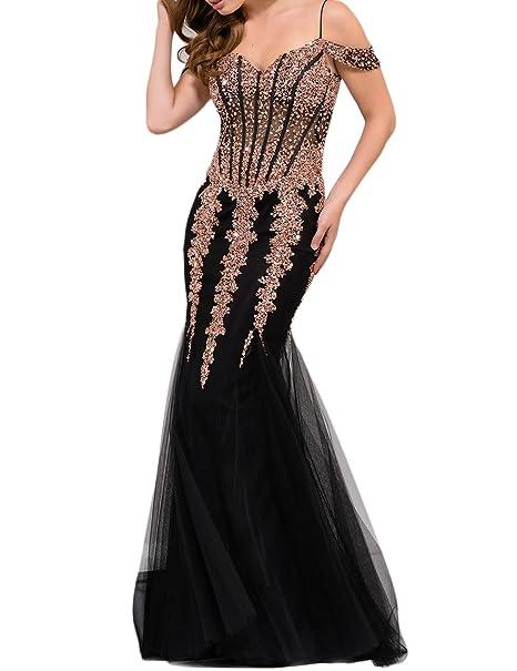 Amazon.com: ysmei vestido de graduación de sirena para mujer ...