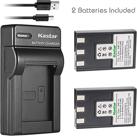 : Kastar Battery (X2) & Slim USB Charger for