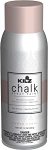 KILZ L540646 Chalk Spray Paint for Upcycling Furniture, 12 oz. Aerosol, Cameo Coral