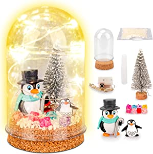 Saome DIY Fairy Magic Night Light Kit, Create Your Own Dogs/Penguin NightLight Kids Craft Kit Best Gifts for 4-11 Years Old
