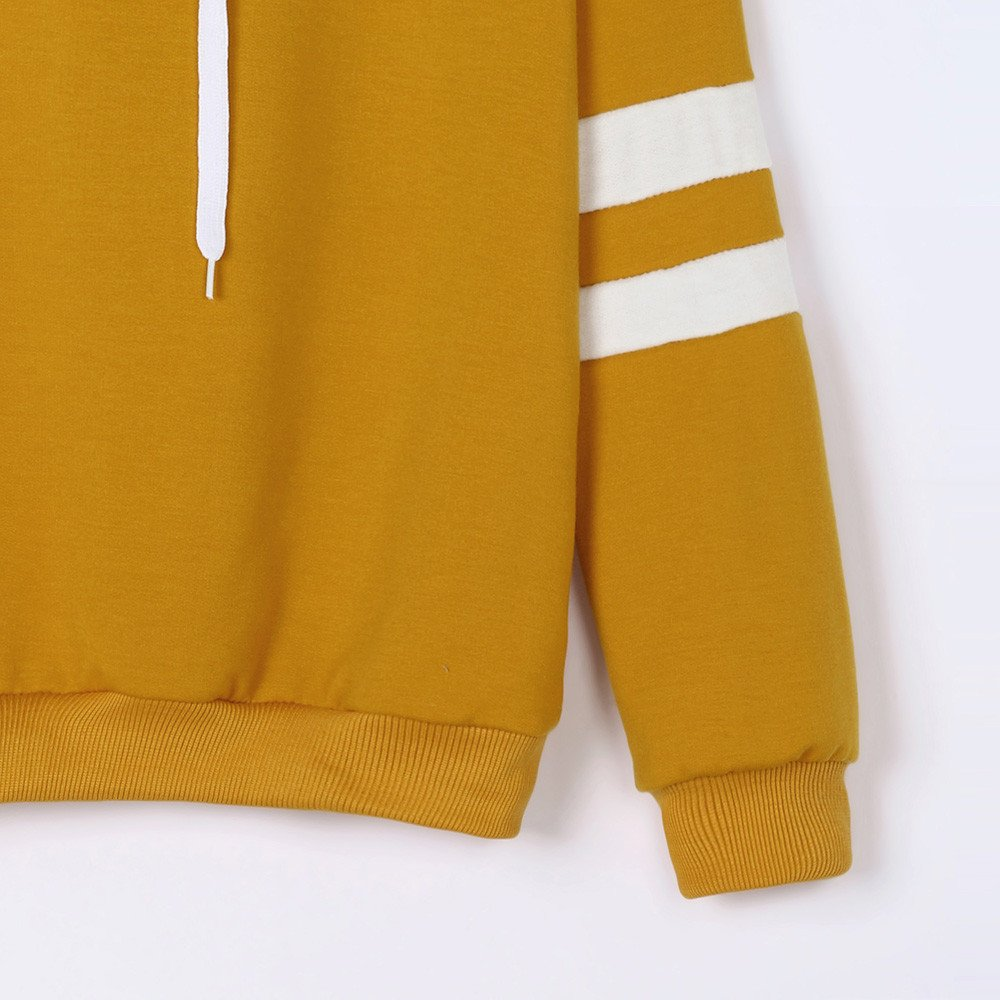 CLOOM Felpa Donna Elegante Felpe Sportive con Cappuccio Donna Ragazza Maglie Manica Lunga Felpa Strisce Pullover Tumblr Autunno Inverno Elegante Sweatshirt Casual Maglietta Tops