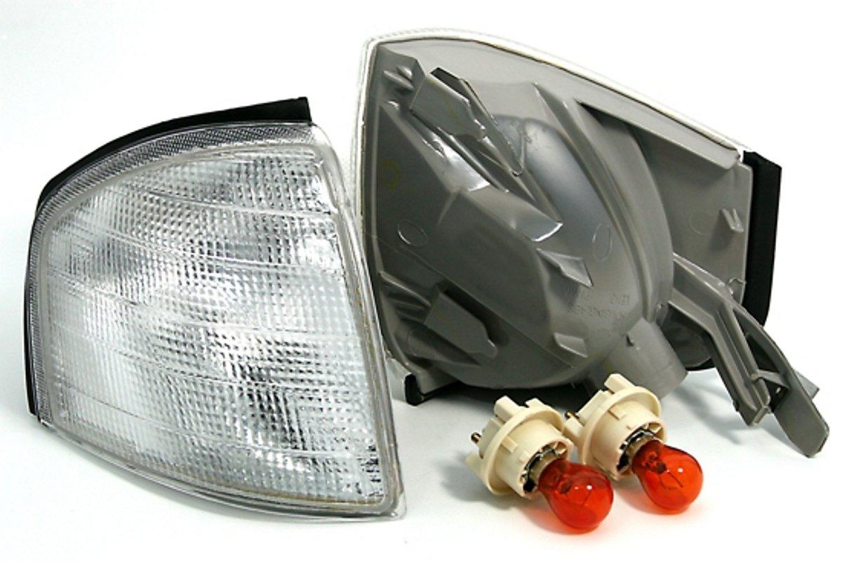 KG DEPO Frontblinker Set Wei/ß inkl Fassung rechts AD Tuning GmbH /& Co PY21W Leuchtmittel Links