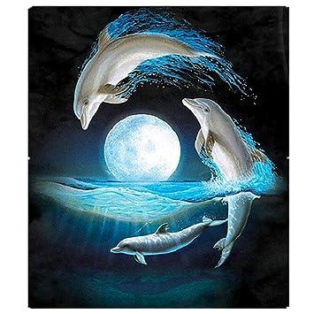 Pintura Diamante de BaZhaHei, Punta de delfín taladro 30 * 34cm del 5D DIY Pintura