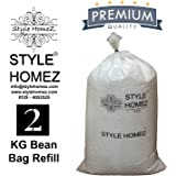 Style Homez Premium 2 KG Bean Bag Fillers Refill for Bean Bags (Improved)