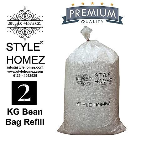 Style Homez High Density 2 KG Bean Bag Fillers Refill for Bean Bags (Improved)