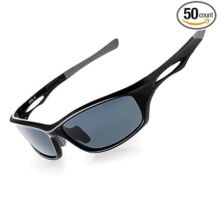 3b031d7eba2 JAVIOL Polarized Sports Sunglasses for Men Women Fishing Driving Sunglasses  Cycling Running Baseball Golf uv400 (
