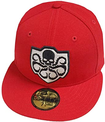 5a02e93d62a90 Amazon.com  New Era Hail Hydra Scarlet Red DC Marvel Cap 59fifty 5950  Fitted Basecap Kappe Men Special Limited Edition  Clothing