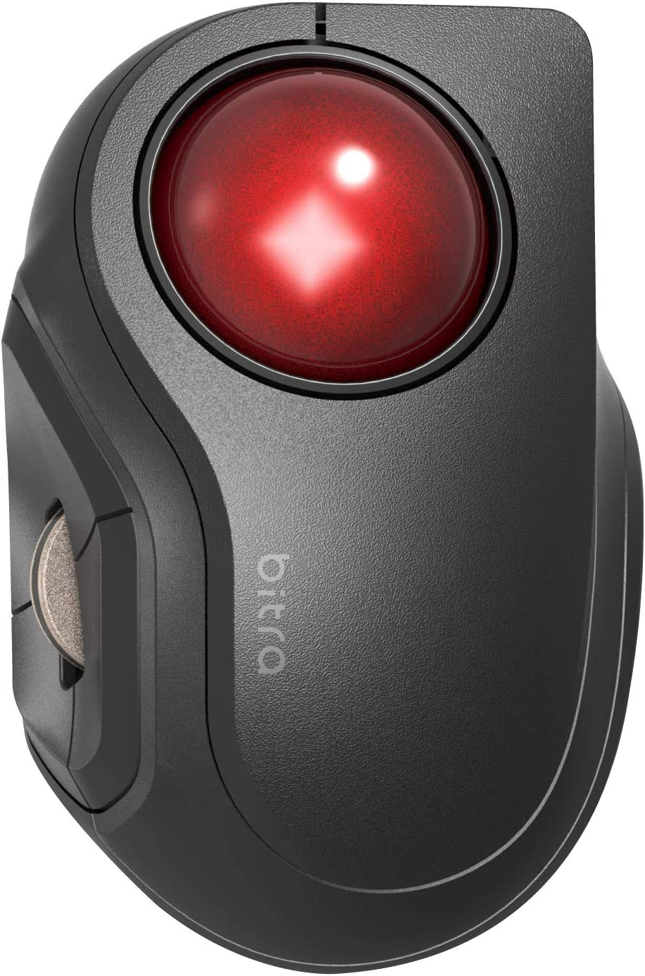 エレコム マウス Bluetooth (iOS対応) トラックボール Sサイズ 小型 人差し指 5ボタン 静音 ブラック M-MT2BRSBK
