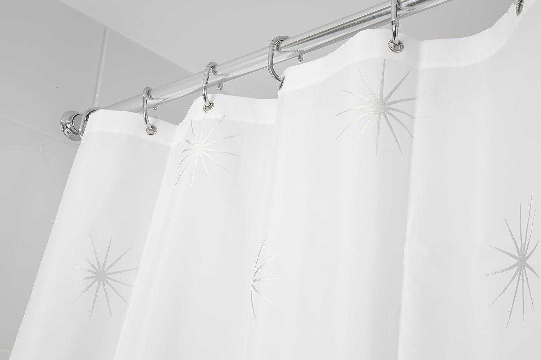 Croydex Stellar Waterresistant Textile Shower Curtain: Amazon:  Kitchen & Home