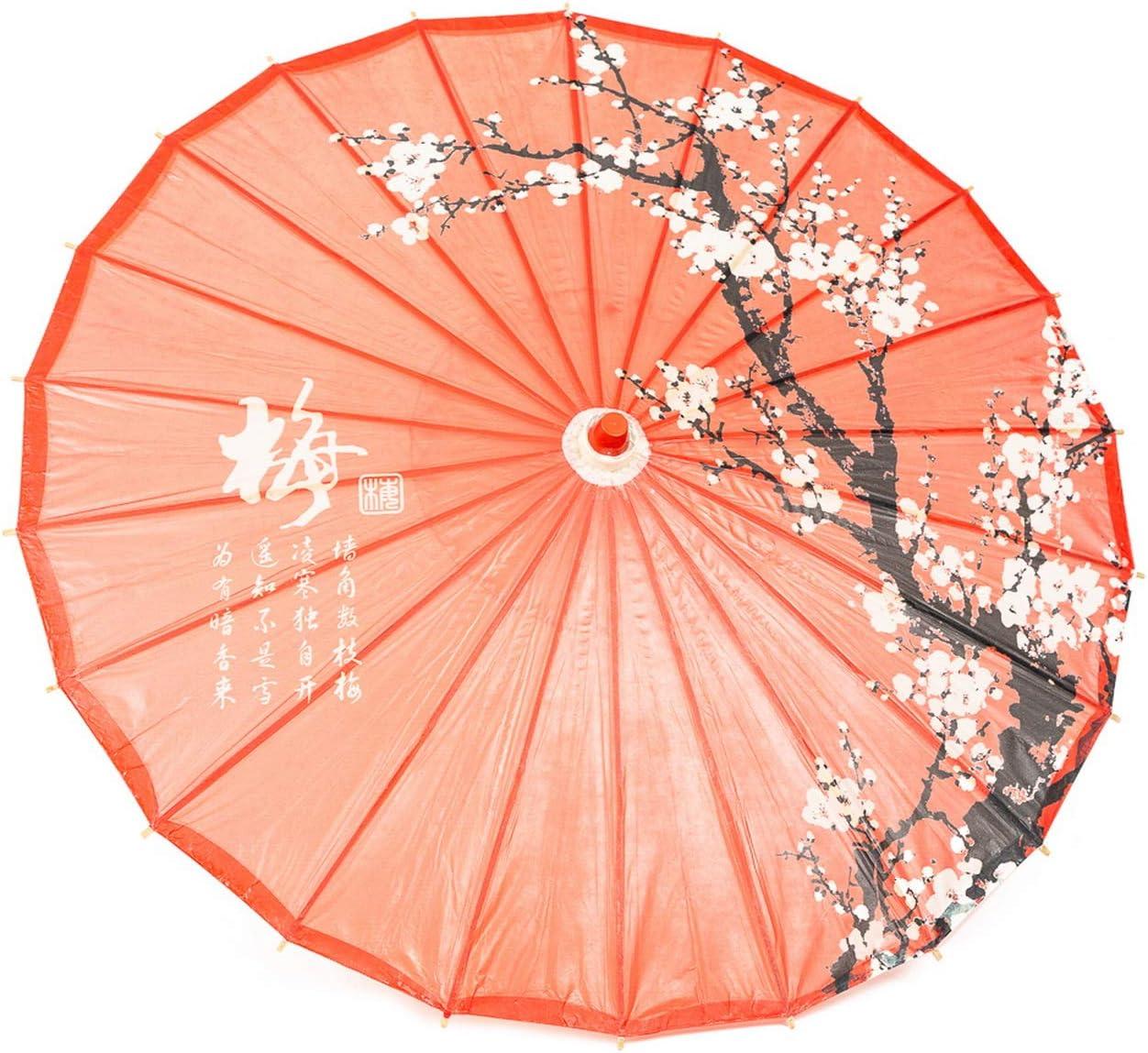 ASIAN HOME Rainproof Handmade Chinese Oiled Paper Umbrella Parasol 33