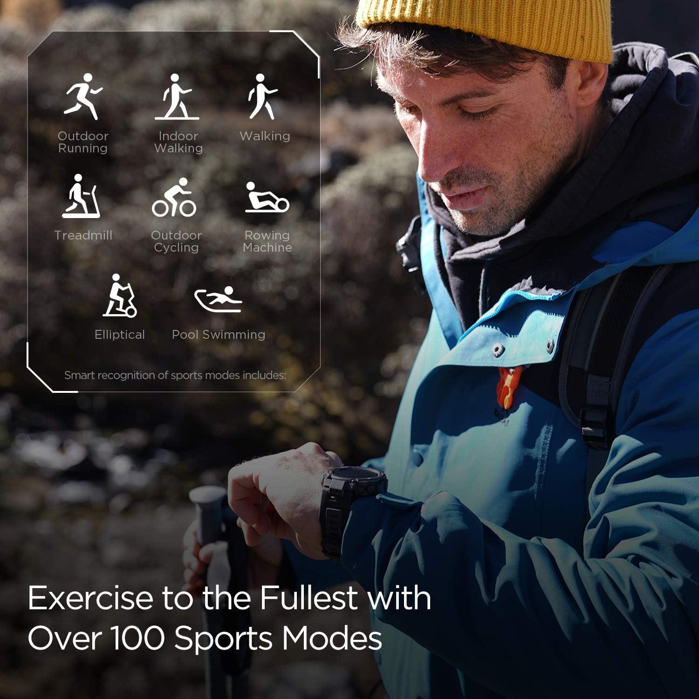 Amazfit T-Rex Pro Montre Connectée Homme Sport