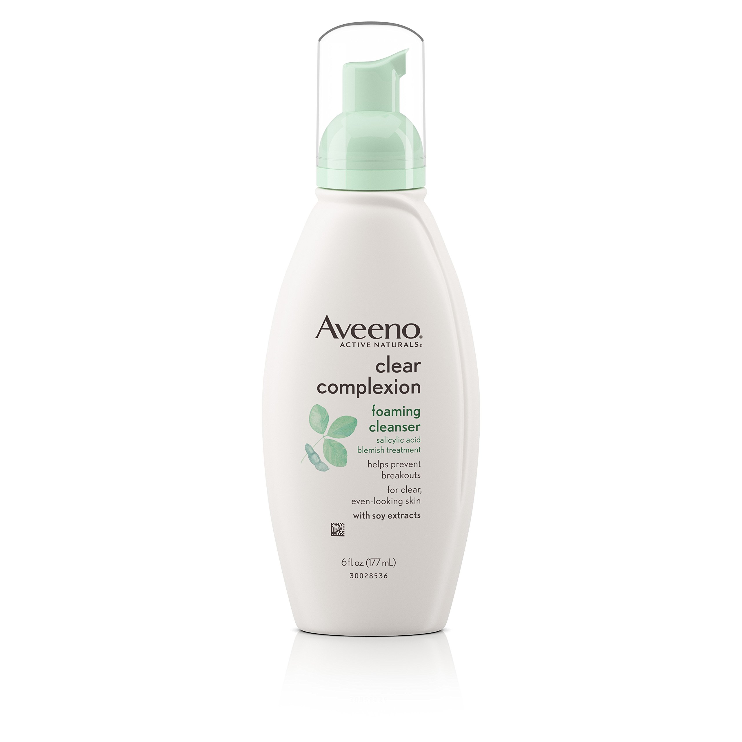 Aveeno Clear Complexion Foaming Facial Cleanser, 6 Fl. Oz (Pack of 3)