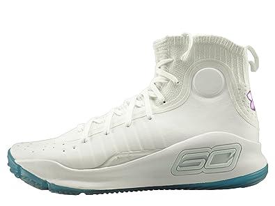 49b7c0e04d4ee Under Armour - Chaussure de Basketball Curry 4 Blanc pour Homme Pointure -  45.5