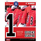 SEI 8-Inch Iron-On Team Pack Athletic Number Transfers, Black, 5-Sheet