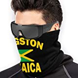 Kingston Jamaica Flag Unisex Microfiber Neck Warmer Headwear Face Scarf Mask For Winter Cold Weather Mask Bandana…