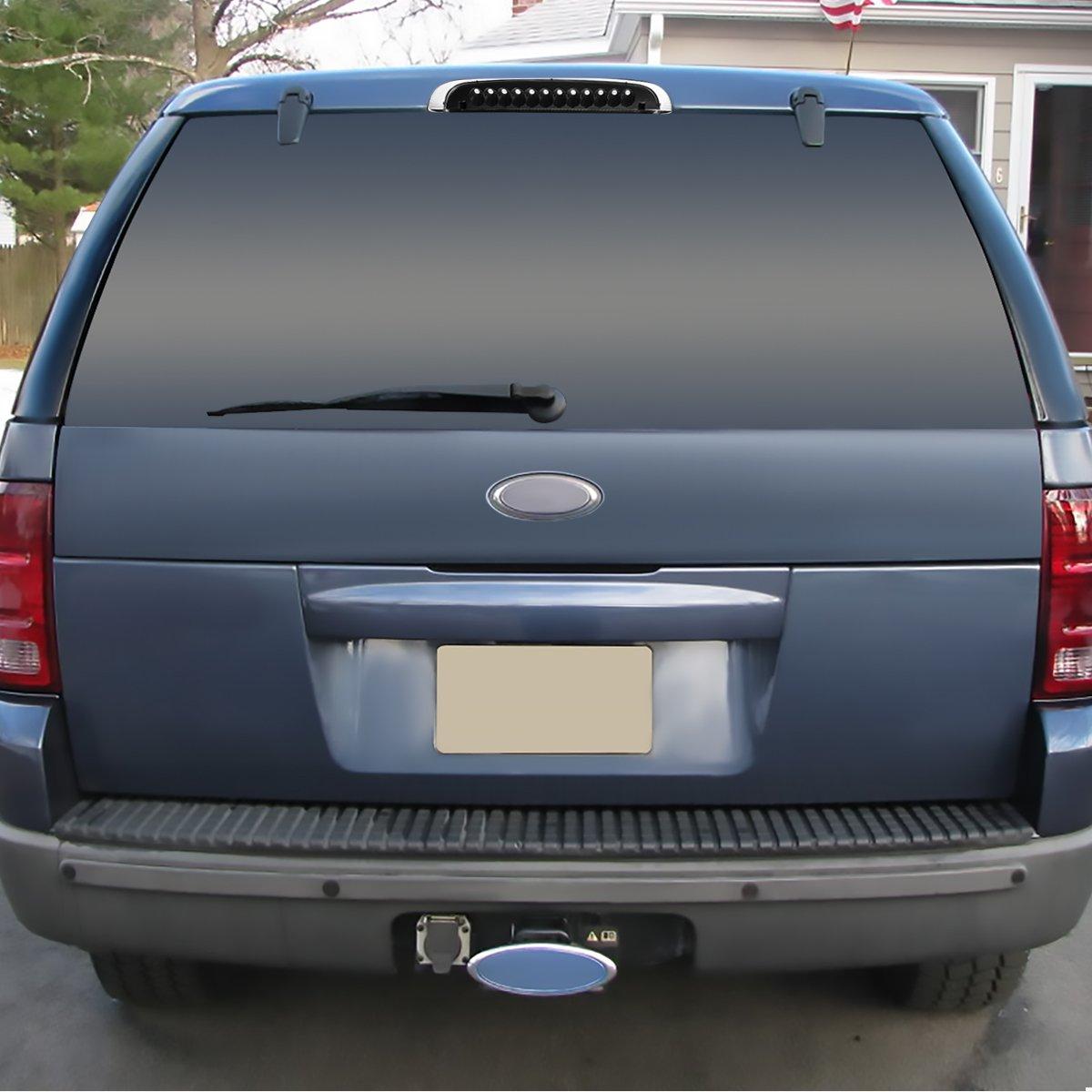 Amazon com for ford explorer un105 un150 rear high mount led 3rd brake light black housing clear lens automotive