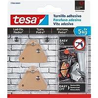 Tesa 77904-00001-00 montageschroeven driehoekig voor tegels en steen 5 kg, staal, set van 2