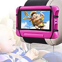 Car Headrest Mount Holder for Tablets,WONNIE Car Tablet Holder for Kids,360° Rotatable Velcro,Back Seat Universal Anti…
