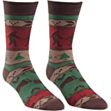 Sock It To Me Bigfoot Sweater Men's Crew Socks, Funny High Knee Socks, Casual Novelty Mens Crew Sock, Fits Men's 7-13