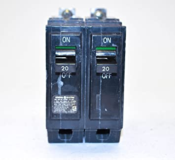 Lot of 2 General ElectrIc GE THQL2120 Circuit Breakers 2 Pole 20 Amp 120//240Volt