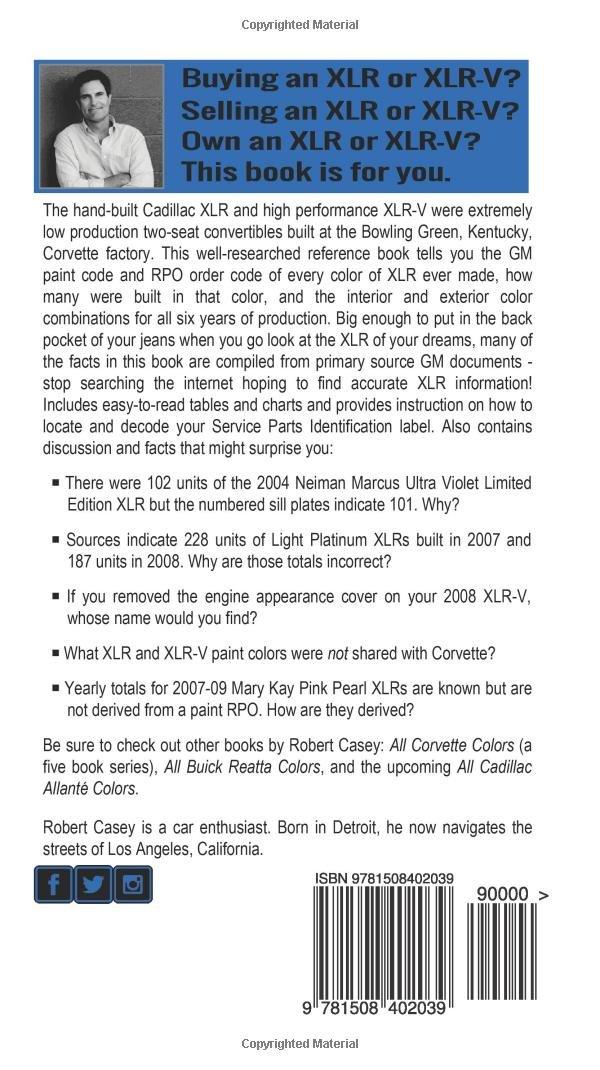 All 2004 2009 Cadillac Xlr Xlr V Colors How Rare Is Your Xlr