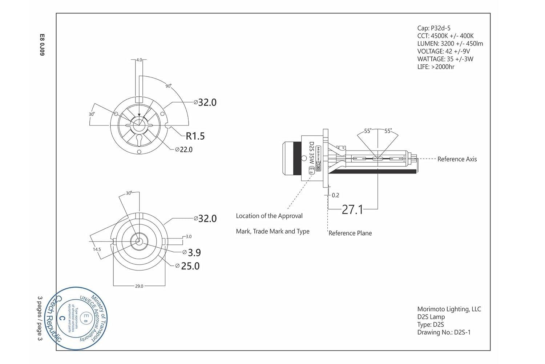 HID Xenon Bulbs 5500K 35W Morimoto D2S XB