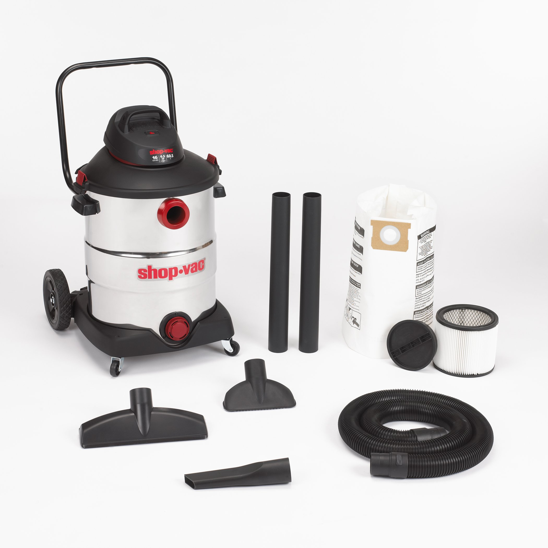 Shop-Vac 5986400 16-Gallon 6.5 Peak HP Stainless Steel Wet Dry Vacuum by Shop-Vac