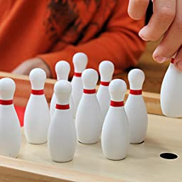 Amazon Com Customer Reviews Gosports Tabletop Mini Bowling Game Set Premium Wooden Construction With Dry Erase Scorecard Perfect For Kids Adults