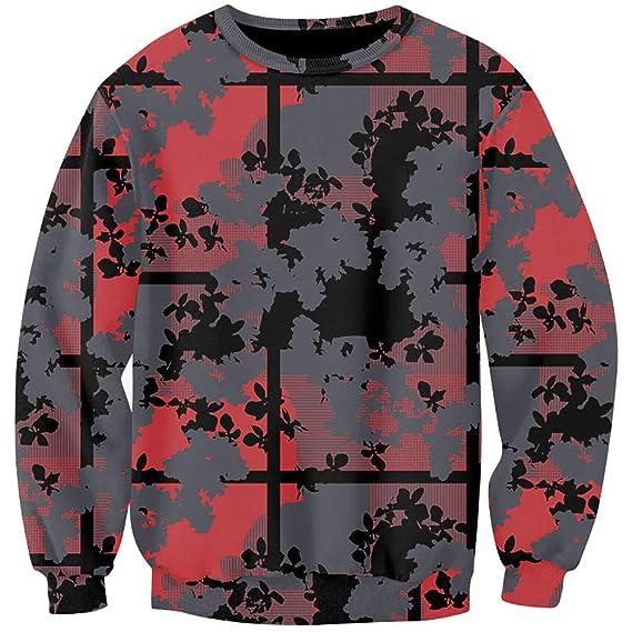 341b06d68d48cf Sweat-Shirt Homme Casual Décontraction Motif Abstrait Moderne Pullover Tops  Lâche Loisirs