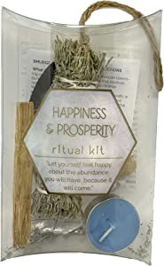 Boho Soul, Wellness Sage Smudge Ritual Kit, Home and Self Cleansing - Happiness & Prosperity